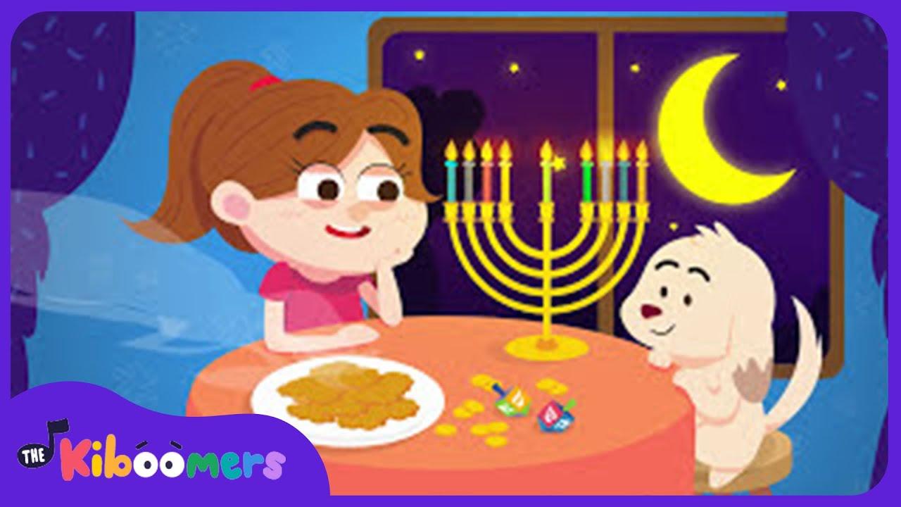 9 Little Candles in My Hanukkah Menorah Hanukkah Song for Kids
