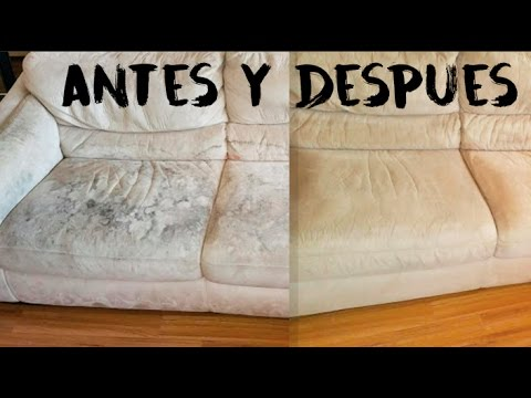 Antes Y Despues De Un Sofa Sucio Youtube
