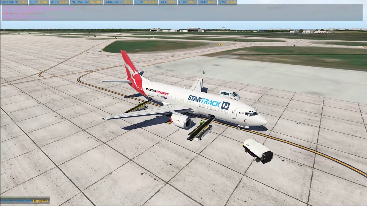 XP11 | YBBN - YSSY | IXEG 737-300 Classic | Will he turn off the  auto-throttle this time?