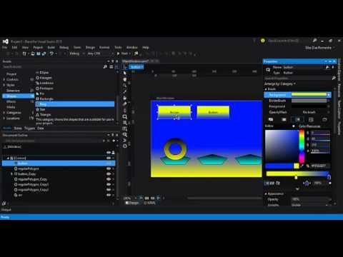 Visual Studio 2015 - Blend - Introdução ao WPF (Parte 5) - YouTube