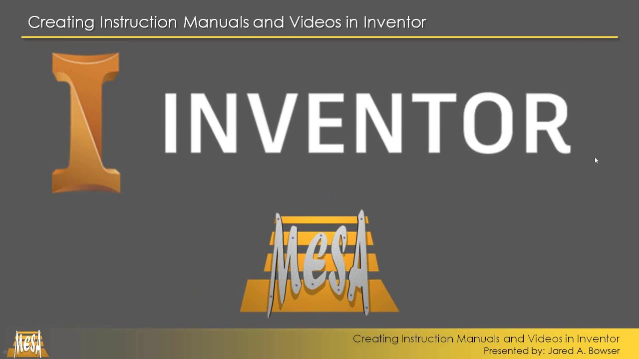 creating instructional videos with inventor youtube