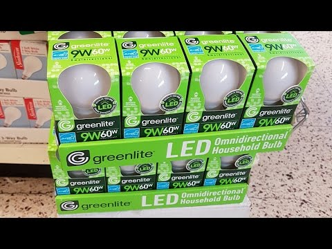 Dollar Tree $1 Greenlite LED Bulb 9w (60w) Review and teardown