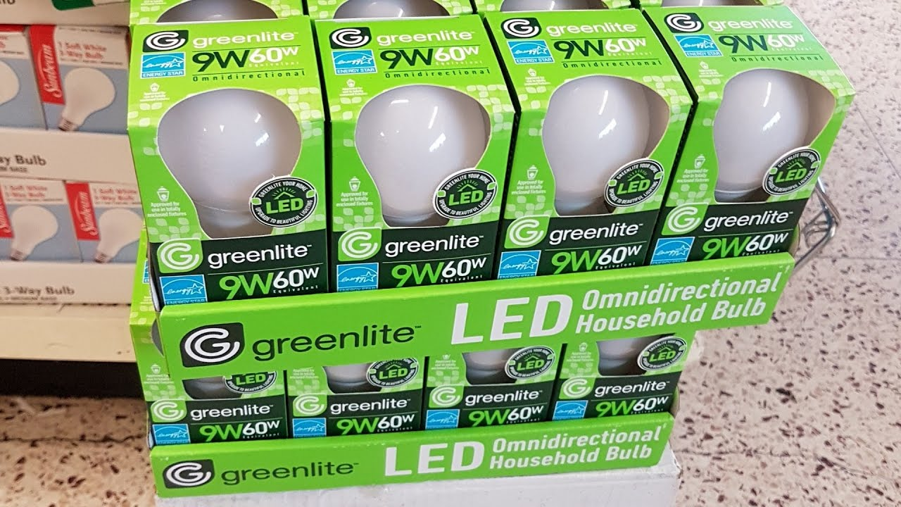 Dollar Tree 1 Greenlite Led Bulb 9w 60w Review And