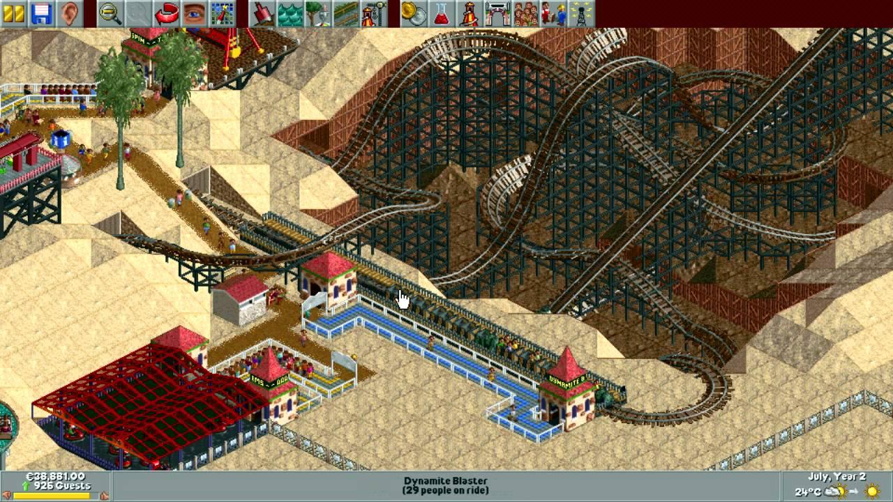 RollerCoaster Tycoon Deluxe - Dynamite Dunes [HD] (Hasbro Interactive)  (1999/2002)
