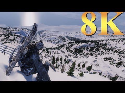 Steep 8K Gameplay Titan X Pascal 4 Way SLI PC Gaming 4K | 5K | 8K And Beyond