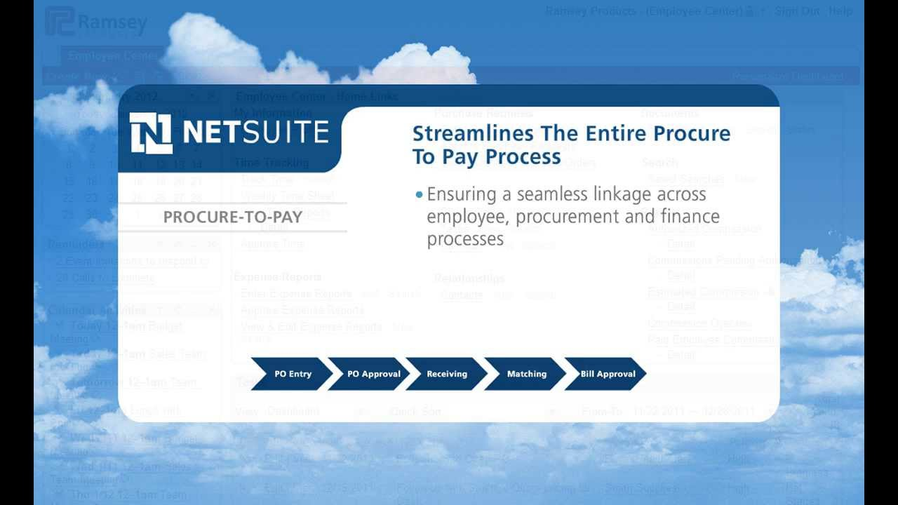 Netsuite Procure To Pay Demo Cloud Based Erp Crm Psa