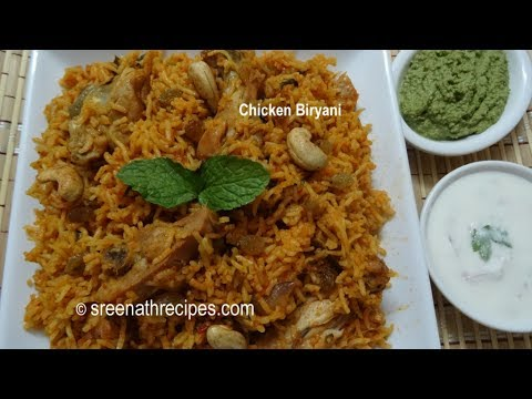 chicken biryani recipe pressure cooker video