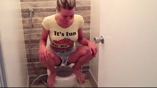 How & why I squat on the toilet (live demo)