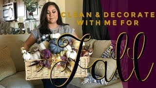 Decorate With Me Fall For Fall I Living Room Decor I Clean & Decorate