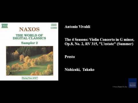 Antonio Vivaldi, Presto