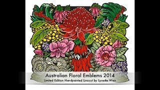 Australian Floral Emblems - Fine Art Linocut Tutorial