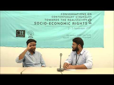 Conversations   Mr.Sunil Kumar   THE REALISATION OF SOCIO-ECONOMIC RIGHTS