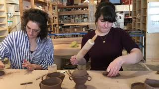 Making a Pinch Pot Tea Set