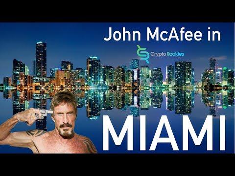 JOHN McAFEE IN MIAMI @ blockchain nation