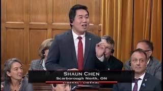 MP Shaun Chen - Statement on First Official Visit by PM Justin Trudeau to China - Sep 22, 2016
