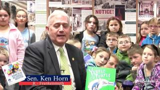 Sen. Horn speaks on the importance of March is Reading Month