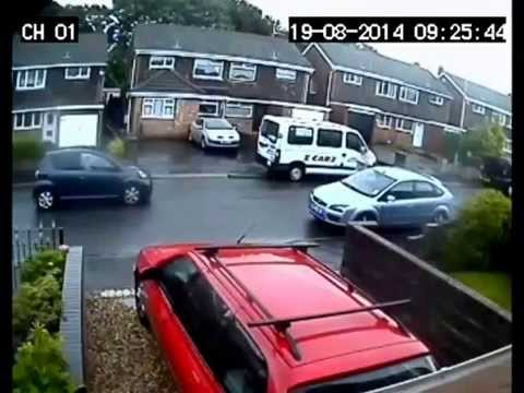 Great smash! Black van reversed into a car. (Should've check mirrors)