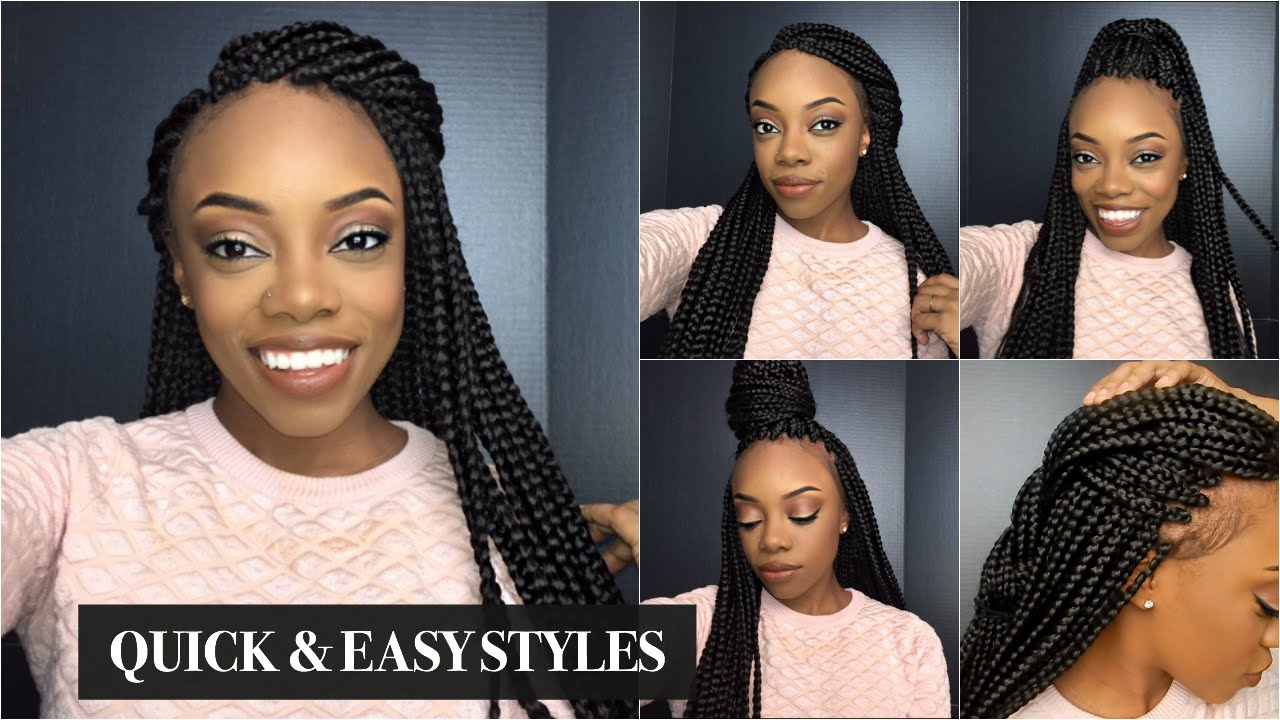 Easy Box Braid Hairstyles Easy Braid Haristyles