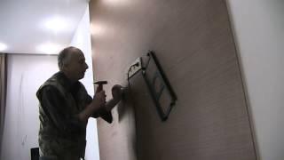 Крепление телевизора к стене в Киеве(Подвеска LCD телевизора на стену 0974288408, (044)360-50-41 Настенное крепление. Монтаж телевизора на стену. Как подвеси..., 2014-01-31T10:55:07.000Z)