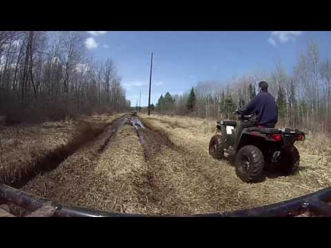 Hurley Wisconsin ATV Trip 4/2016 Part 1