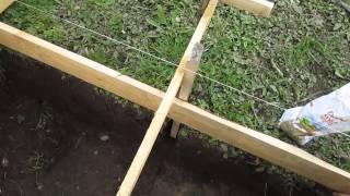 видео Как сделать фундамент: изготовление, монтаж опалубки