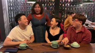 Việt Hương lại tiếp tục chửi xối xả tại nhà hàng của em gái Trấn Thành cùng Đại Nghĩa.