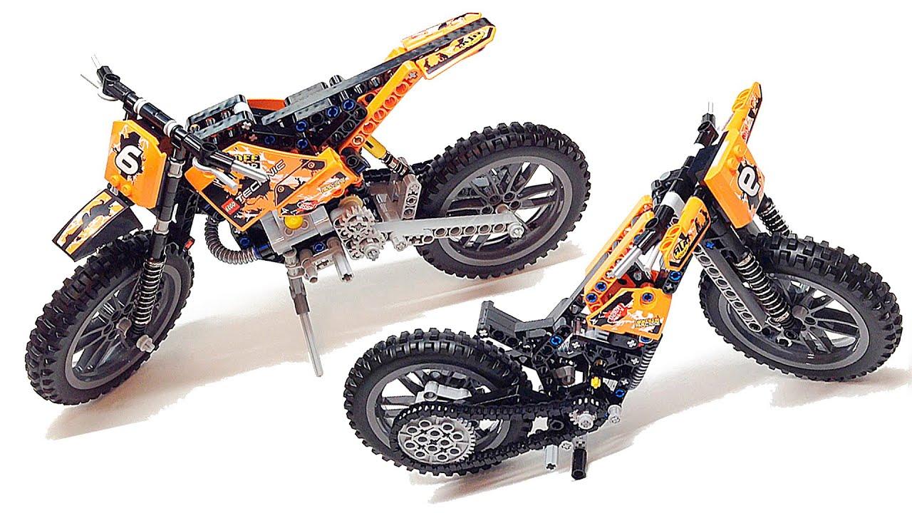 Конструктор Лего Техник, набор 42007 Кроссовый мотоцикл. Я покажу