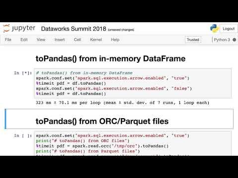Apache Spark 2 3 ORC with Apache Arrow - YouTube