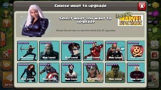Clash of Clans CoC - AVENGERS X-MEN - BEST MAX TROOPS MARVEL SUPERHEROES