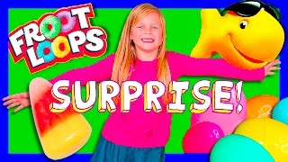 surprise fruit loops gold fish candy paw patrol frozen toys compilation surprise video