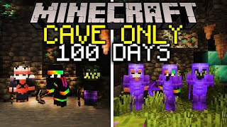 100 Days To Create Civilization In A Cave Only World... Here's What Happened