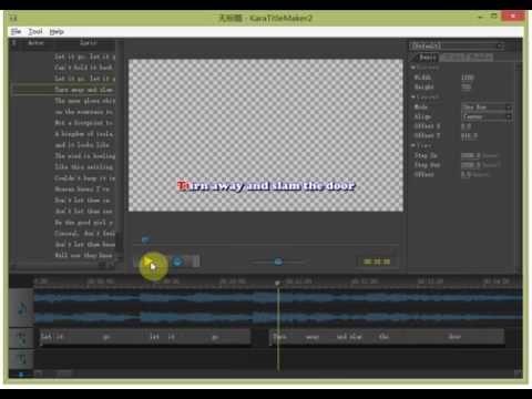 How To Make Karaoke Subtitle