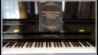 ピアノで弾く名曲50選 No.4 プレリュード(平均律1番)[Praeludium C-Dur BWV 846]【大人 初心者】