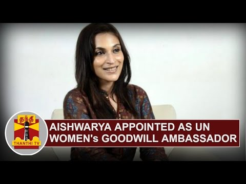 Aishwarya Dhanush appointed as UN Women's Goodwill Ambassador for South India
