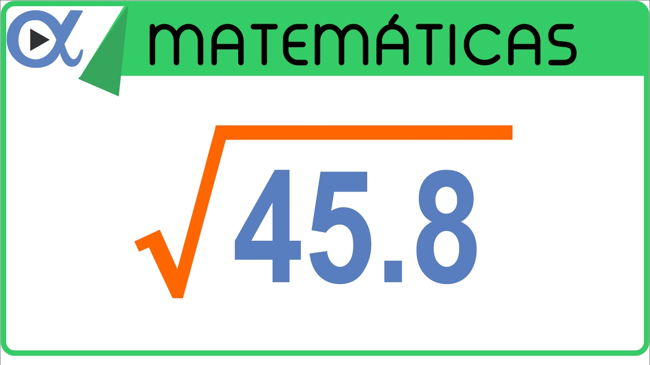 Raíz cuadrada con punto decimal ejemplo 1 de 2 | Aritmética - Vitual
