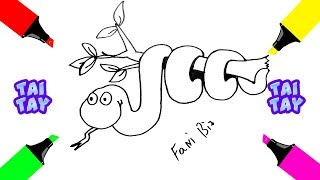 Рисунки Для ДЕТЕЙ Как Нарисовать Змею Детский Рисунок на Тему Животные Для Срисовки