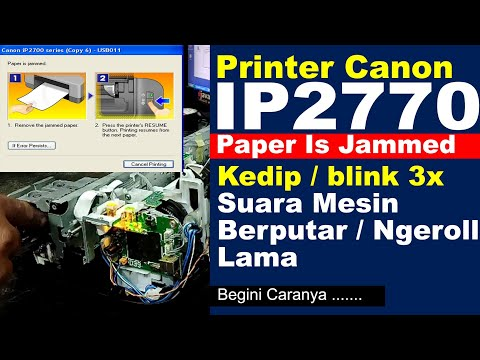 cara mengatasi printer canon lampu orange berkedip kedip atau blinking.