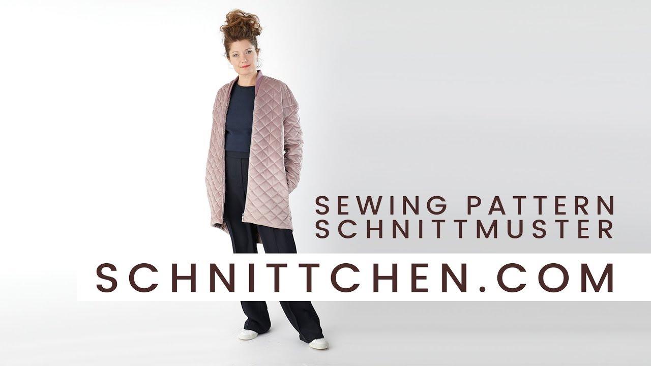 Schnittmuster für den kuscheligen Kurzmantel Marion / Sewing Pattern ...