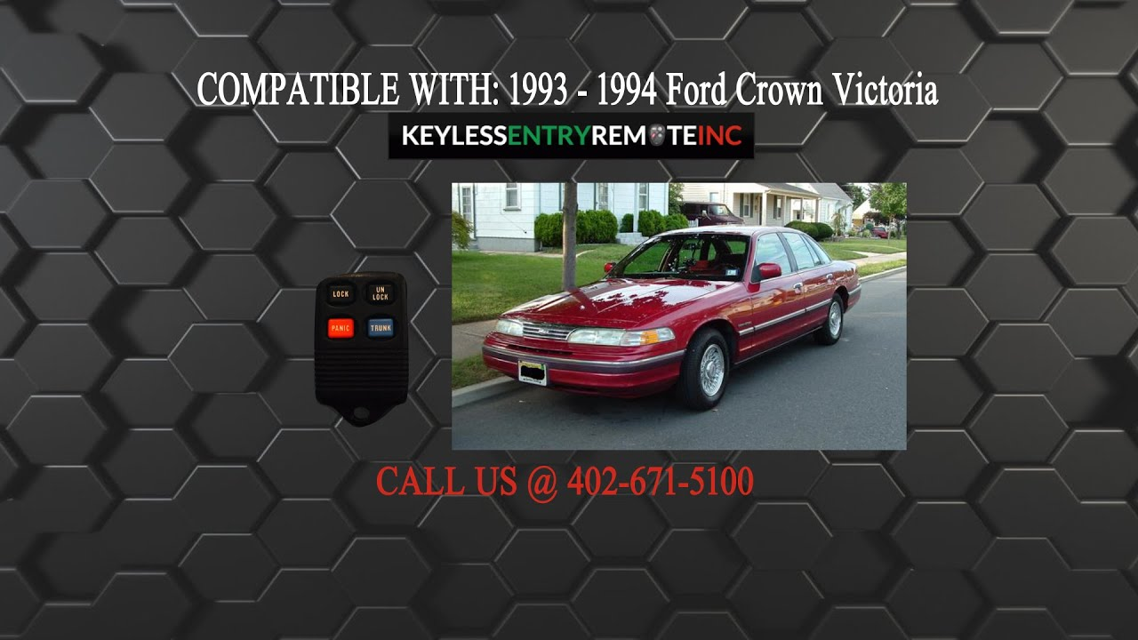 how to replace ford crown victoria key fob battery 1993 1994 - youtube