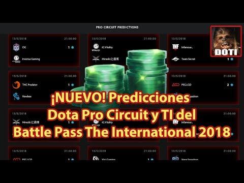 ¡NUEVO! Predicciones DPC del Battle Pass The International 2018