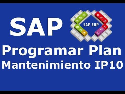 SAP Programar plan de mantenimiento
