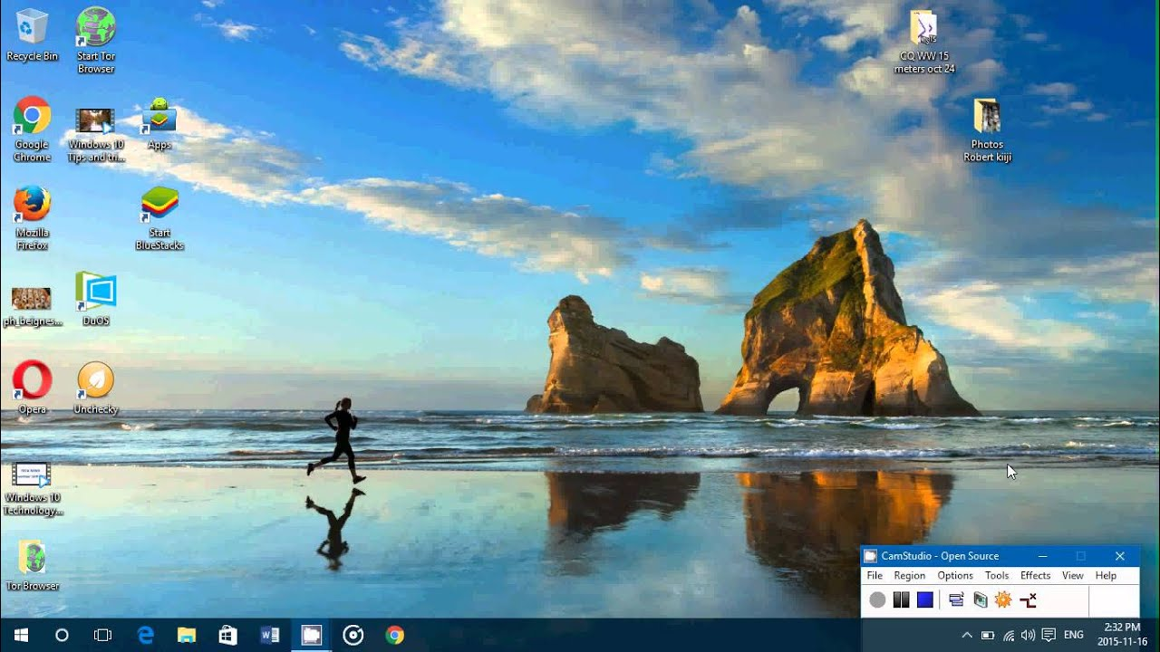 Windows 10 Tips And Tricks How To Set A Desktop Wallpaper Background Slideshow Youtube