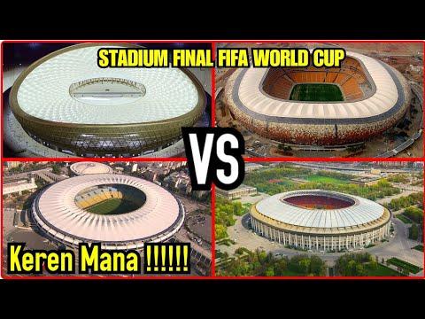 Stadium final piala dunia 2010,2014,2018 dan 2022 - YouTube