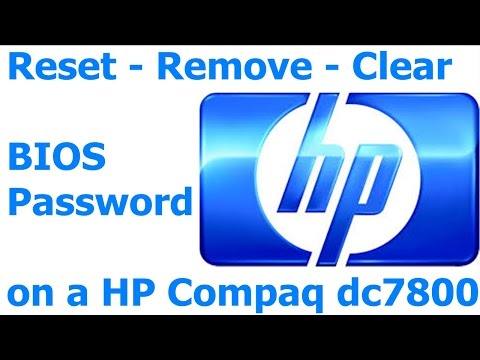 052 How to Remove - Reset - Clear BIOS Password on a HP