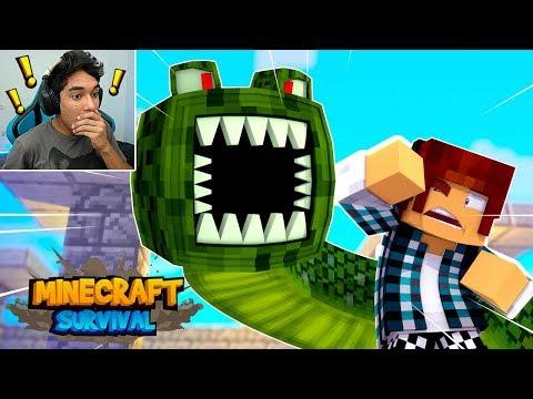 Minecraft Survival #13 - NAGA O MONSTRO GIGANTE  !! thumbnail