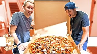 Giant Pizza Eating Challenge!