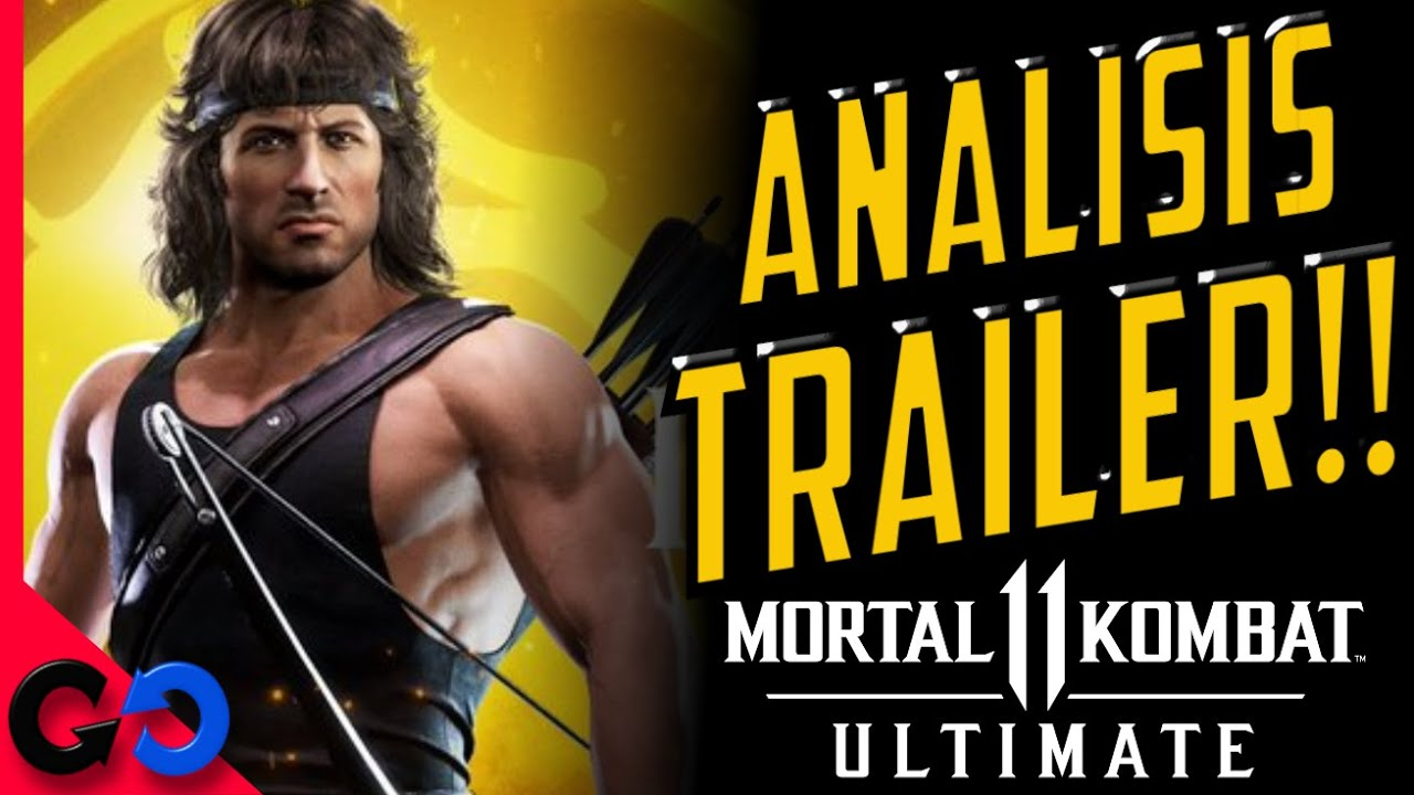 Mortal Kombat 11 Ultimate ANALISIS Trailer de RAMBO!! // Gameplay. SKINS, Peliculas, etc!