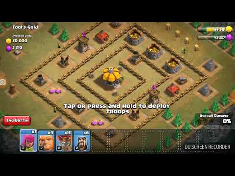 CLASH OF CLAN'S ultimate town hall attacks fools.gold