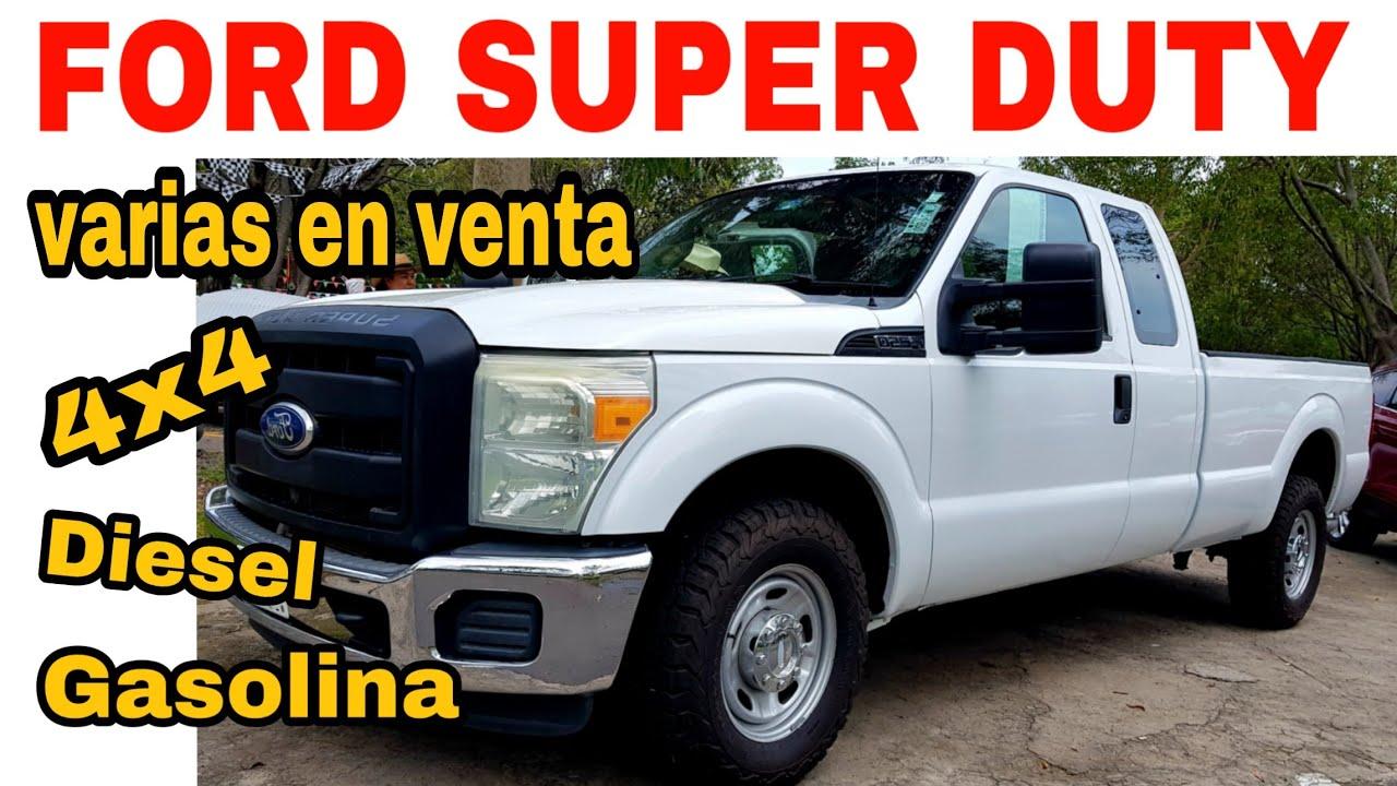 FORD SUPER DUTY 4X4 especial DIESEL GASOLINA f250 pickup trucks for sale tianguis de autos en venta