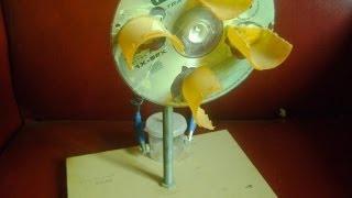 Repeat youtube video COMO HACER MOLINO EÓLICO CASERO-HOME WIND GENERATOR MOTOR-